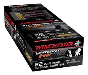 Picture of WINCHESTER SUPREME 22WMR 30GR JACKETED HOLLOW POINT